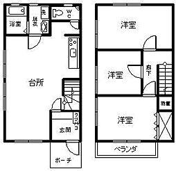 サニーハウス海咲[Z-1号室]の間取り