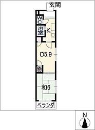グランドヒルズ酒井[3階]の間取り