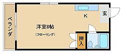 アントレー嵯峨野[201号室]の間取り