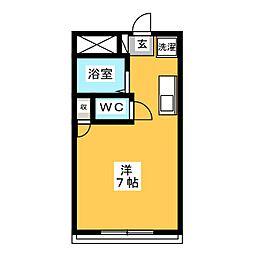 学生マンション ユノキA[3階]の間取り