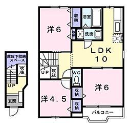 ベル・コーポ・デヌシB[2階]の間取り