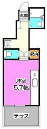 東京都練馬区石神井町4丁目の賃貸アパートの間取り