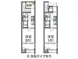 クレイノオカムラハイツ5[1階]の間取り