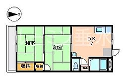 兵庫県神戸市垂水区南多聞台8丁目の賃貸マンションの間取り