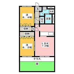 シティハイツエバンスI[1階]の間取り