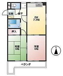 中野アーバンライフ[2階]の間取り