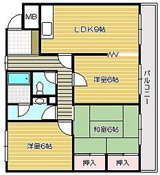 カーサアルコI[2階]の間取り