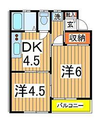 エステートナカヤマ[205号室]の間取り