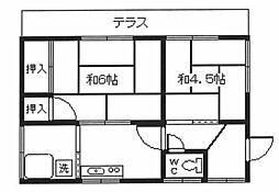 [一戸建] 東京都福生市大字福生 の賃貸【/】の間取り
