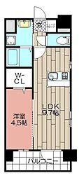 CLUB博多駅南レジデンス[9階]の間取り