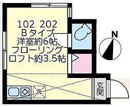 神奈川県川崎市川崎区浜町2丁目の賃貸アパートの間取り