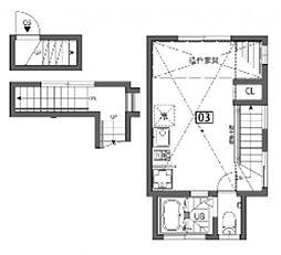 [テラスハウス] 東京都大田区下丸子3丁目 の賃貸【/】の間取り