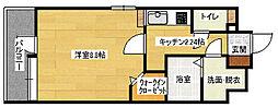 広島県広島市中区幟町の賃貸マンションの間取り