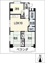 平輿マンション[4階]の間取り