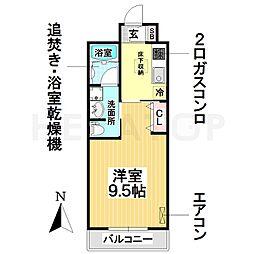 名古屋市営名城線 新瑞橋駅 バス8分 下八事下車 徒歩3分の賃貸マンション 1階1Kの間取り
