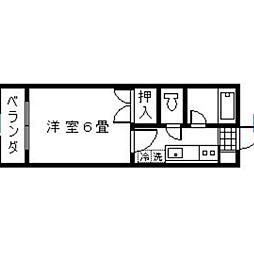 エントピア鴨池II[402号室]の間取り