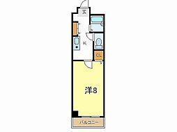 兵庫県加古川市平岡町新在家3丁目の賃貸マンションの間取り