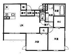仮称)西宮市石刎町D-room[2階]の間取り