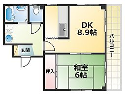 ERCサウス六甲ビル[3階]の間取り
