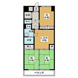 第2平安ビル[7階]の間取り