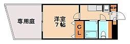 ヴォーグキューブ[1階]の間取り