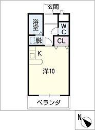 プラシードマンション桃山[2階]の間取り