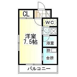 アークメイコー[1階]の間取り