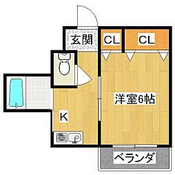 ヤマシナアーバンコテージ[2階]の間取り