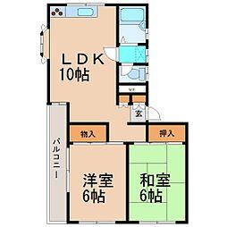 KKハイムIII[2x2号室]の間取り