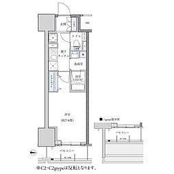 パークアクシス新栄 3階1Kの間取り