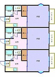 カーサ大和[1階]の間取り
