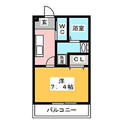 Luminous Kotobuki[2階]の間取り