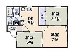 稲花ハウス2[206号室]の間取り