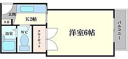 コーニッシュ桜川[3階]の間取り