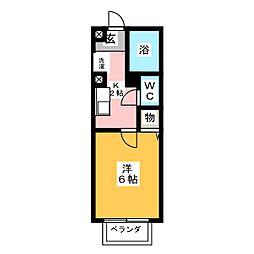 Paseo Flats[1階]の間取り