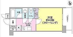 東京都渋谷区桜丘町の賃貸マンションの間取り