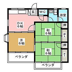 コーポベルフラワー[1階]の間取り
