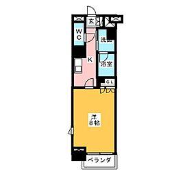 グラン・アベニュー鶴舞公園 6階1Kの間取り