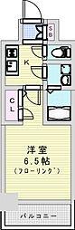 おおさか東線 JR淡路駅 徒歩7分の賃貸マンション 5階1Kの間取り