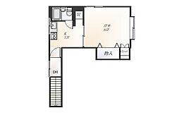 ハウス 白金台[2階]の間取り