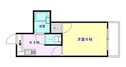ロイヤルメゾン古江[1階]の間取り