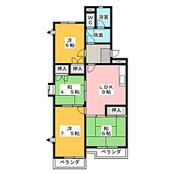 ルーミイ新屋敷[1階]の間取り