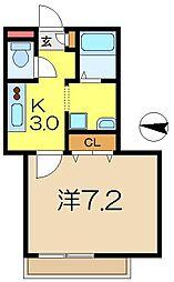 メゾン井土ヶ谷[2階]の間取り