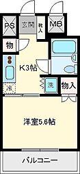 ライオンズマンション盛岡中央通[403号室]の間取り