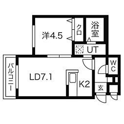 Rujuru(ルジュール) 麻生[2階]の間取り