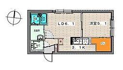北海道札幌市東区北十九条東7丁目の賃貸マンションの間取り