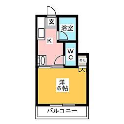 竜恵コーポ[2階]の間取り