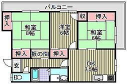 道井ビル[301号室]の間取り
