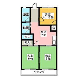 エトワール栄[3階]の間取り