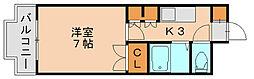 フラリッシュ博多東[2階]の間取り